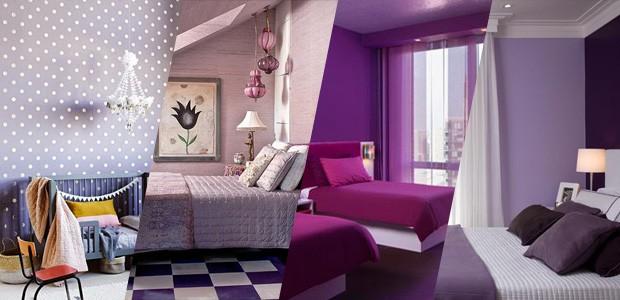 15 quartos incríveis decorados com roxo e lilás Casa  ~ Quarto Verde Limao E Rosa