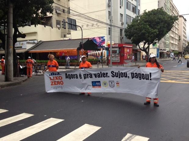 Campanha Lixo Zero chega à região da Tijuca (Foto: Mariucha Machado/ G1)