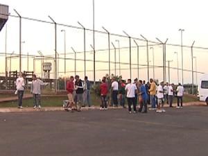 Presos durante saída temporária no presídio em Rio Preto (Foto: Reprodução / TV Tem)