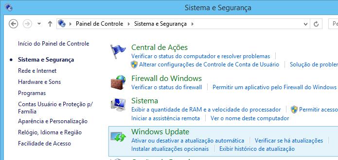 Acesse o Windows Update (Foto: Reprodução/Helito Bijora)