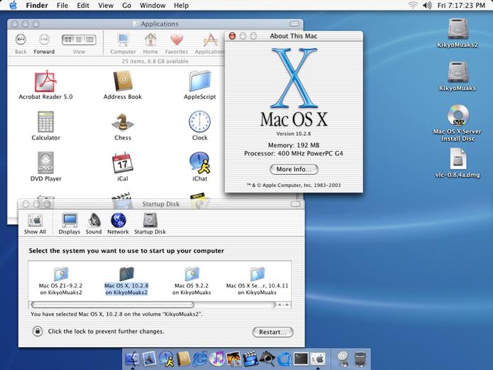 Mac OS X 10.2 Jaguar: melhora na interoperabilidade entre Mac e redes Windows (Foto: Divulgação/Apple)