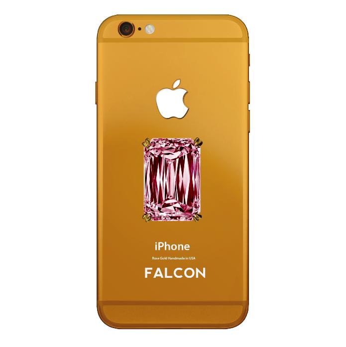 Desenvolvido pela joalheria Falcon, o iPhone 6 Rose Gold Pink Diamond custa R$ 1 bilhão (Foto: Divulgação/Falcon)