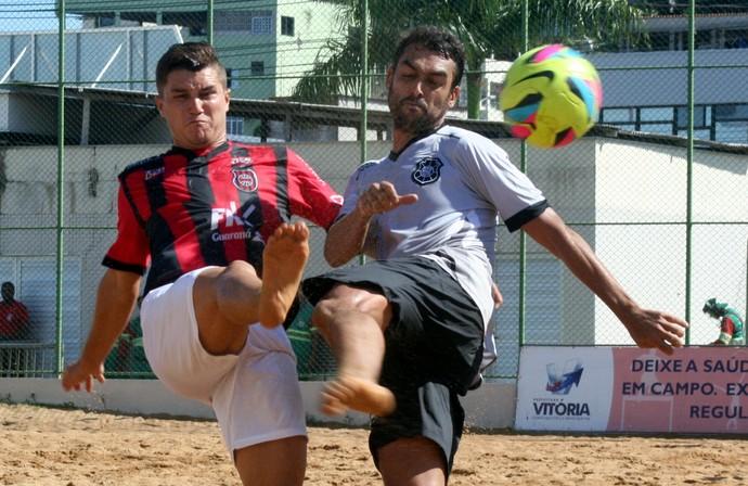 Brasil de Pelotas vence o Rio Branco-ES na Pré-Copa Brasil de futebol de areia (Foto: Pauta Livre)