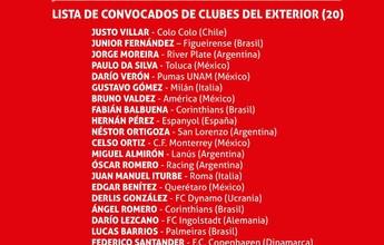 Com Romero, Balbuena, Gatito e Barrios, Arce convoca o Paraguai