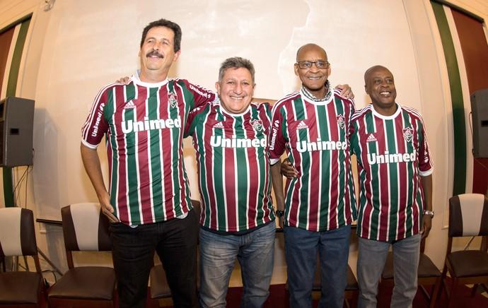 Romerito, Assis, Wilsinho e Duílio 1984 no Fluminense (Foto: BRUNO HADDAD/FLUMINENSE F.C.)