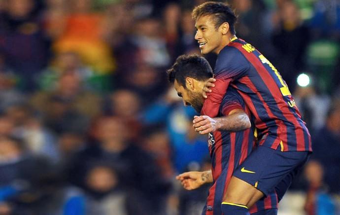 Neymar Barcelona e Betis (Foto: Agência AFP)