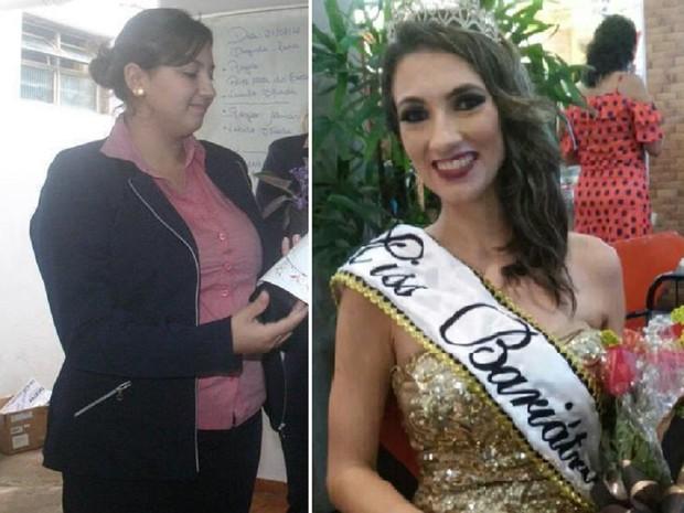 Cristiane Rodrigues perdeu 40 kg e se sente uma nova pessoa (Foto: Montagem G1)
