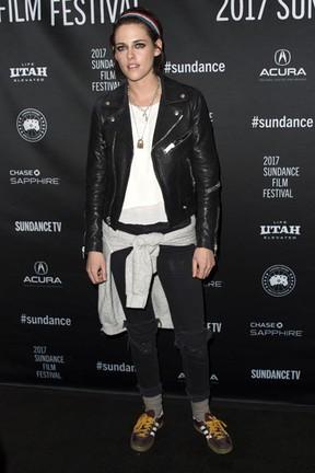 Kristen Stewart em première de filme em Park City, em Utah, nos Estados Unidos (Foto: Valerie Macon/ AFP)