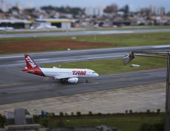 Avião da TAM (Foto: Caio Guatelli/Editora Globo)