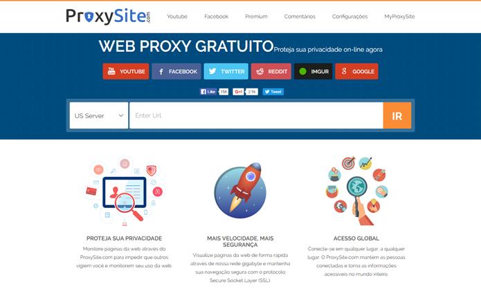 Proxy pode acessar sites bloqueados rapidamente (Foto: Reprodução/ProxySite)
