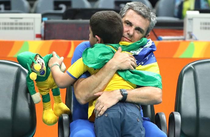 Zé Roberto e Neto Brasil X China Vôlei (Foto: Marcio Fernandes / Estadão / Nopp)