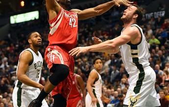 Harden e Nenê têm boa atuação, mas Bucks desbancam os Rockets em casa