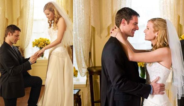 O plano de George (David Sutcliffe) é conquistar Jane (Jennifer Westfeldt) antes de ela se casar (Foto: Divulgação/Reprodução)