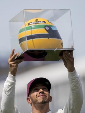 Lewis Hamilton capacete Senna GP do Canadá Fórmula 1