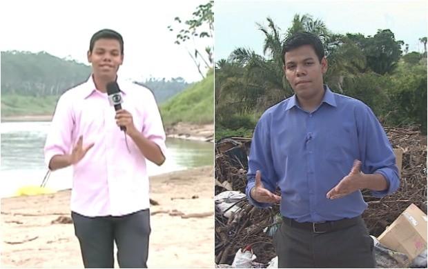 Jornalista relembrou das reportagens sobre os bastidores do quadro Menina Fantástica e a série sobre o descarte do lixo (Foto: Arquivo/Rede Amazônica)