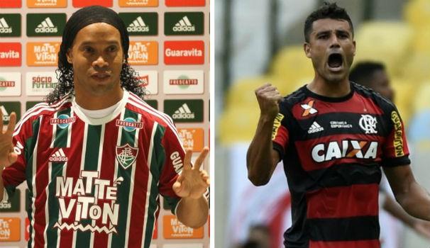 Fluminense x Flamengo (Foto: Montagem/GE)