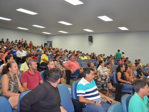 Audiência pública para elaboração do Plano Plurianual do estado de Rondônia (Foto: Rogério Aderbal/G1)