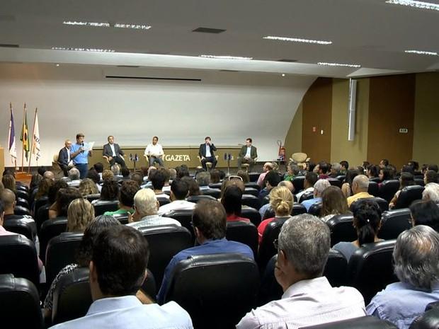 Juninho, Luciano Rezende, Rodney Miranda e Audifax participaram do debate na Rede Gazeta (Foto: Reprodução/ TV Gazeta)