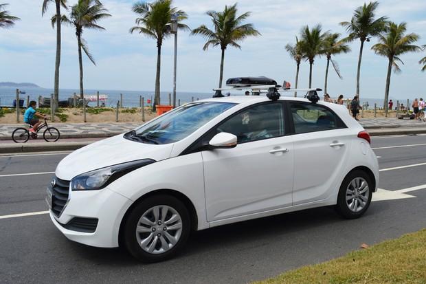 Carro da frota da Uber para mapear ruas no Brasil (Foto: Divulgação)