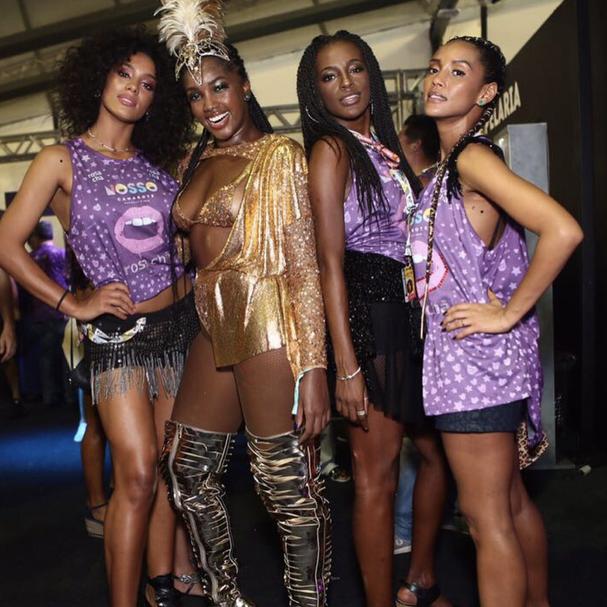 Raissa Santana, Iza, Pathy DeJesus e Tais Araújo (Foto: Reprodução Instagram @IwiOnodera)