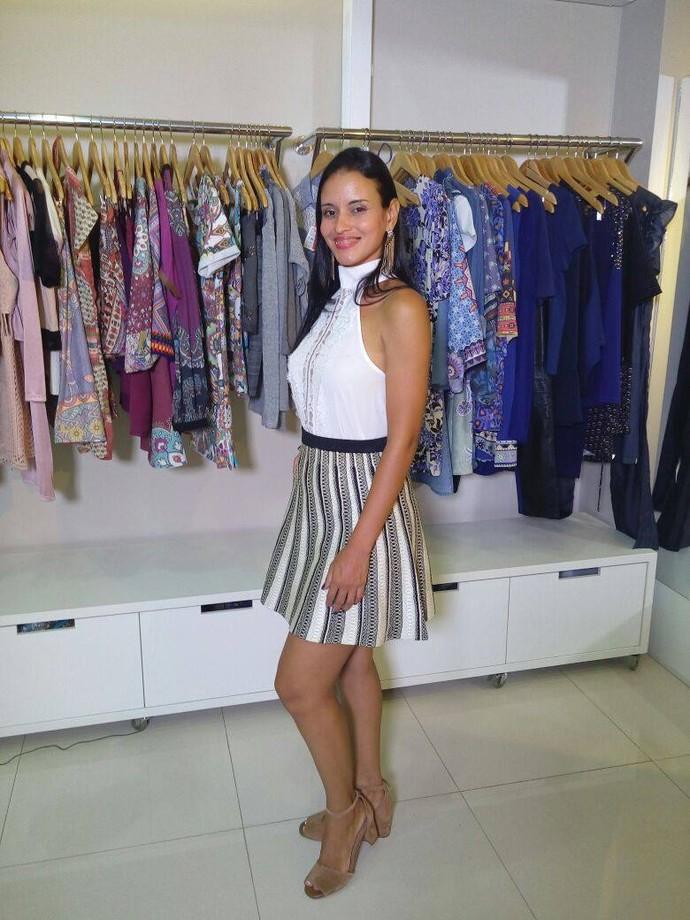 Duila Oliveira, após a consultoria (Foto: Fernando Petrônio)