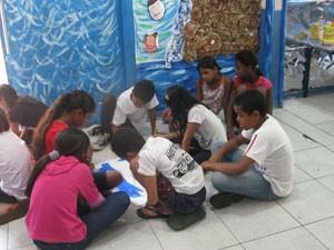 Crianças da ONG Casa do Zezinho (Foto: Márcio Pinho/G1)