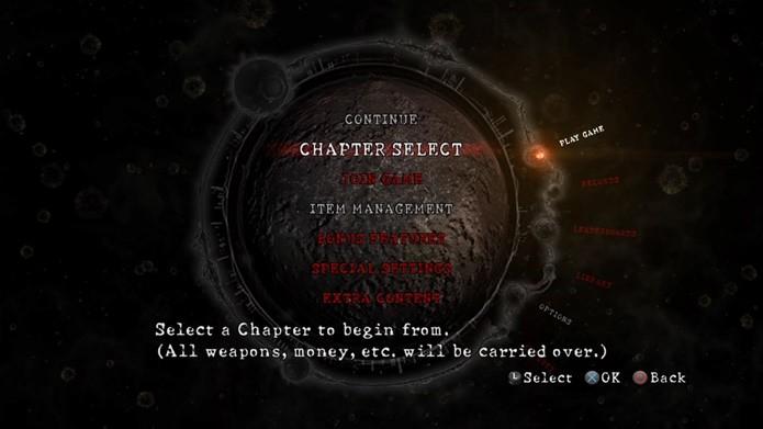 Resident Evil 5 deve ser iniciado em single player, para que o modo cooperativo seja ativado (Foto: Reprodução/Felipe Demartini)