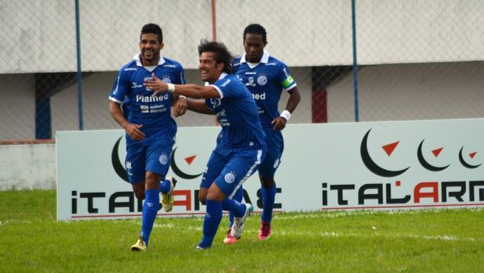Alvinho marcou o gol do Cofniança  (Foto: Felipe Martins)