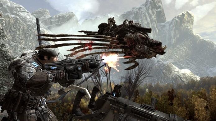 Gear of War 2 é um jogo imperdível para quem gosta de ficção científica (Foto: Divulgação)