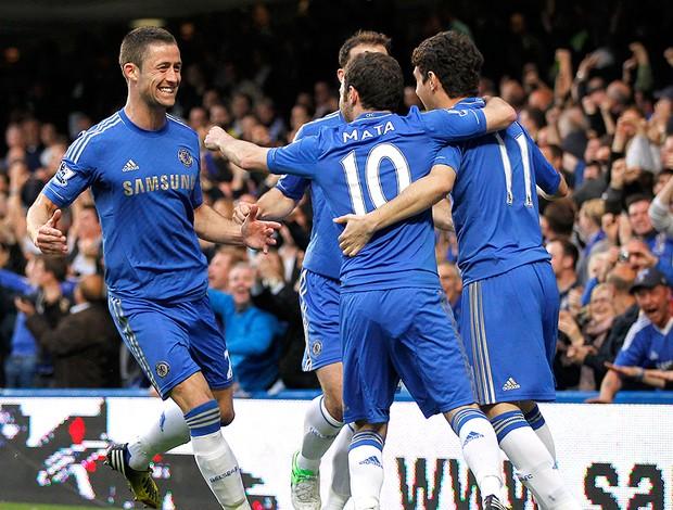 Oscar gol Chelsea contra Tottenham (Foto: AFP)