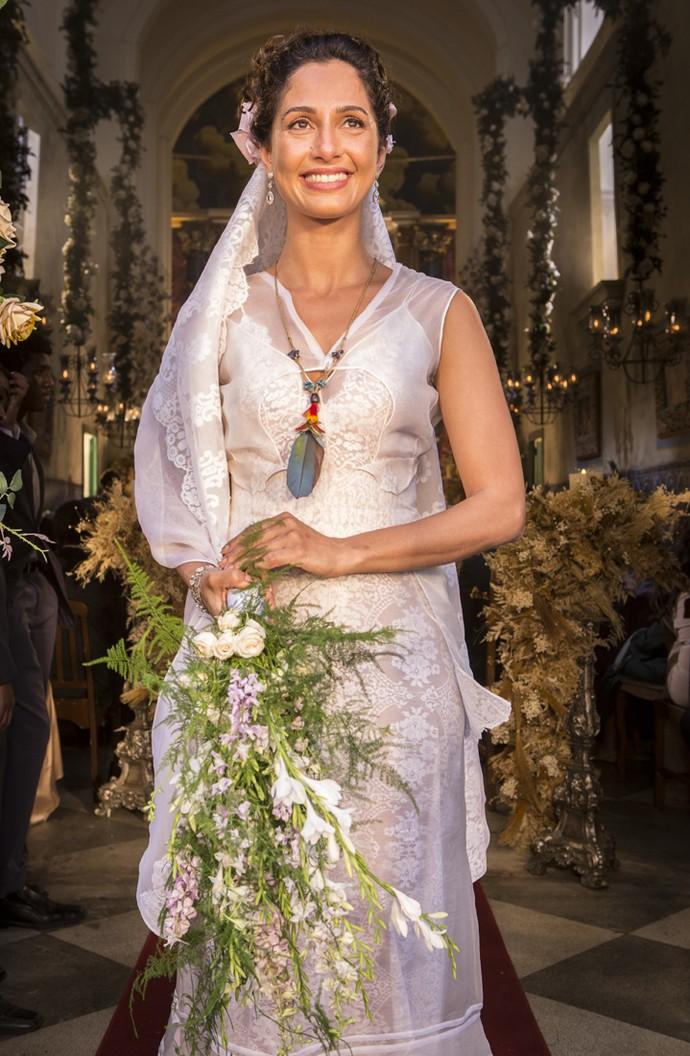 Casamento de Tereza e Santo promete emocionar o público (Foto: Felipe Monteiro/ Gshow)