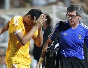 Goleiro do Real Sociedad lamenta derrota (Foto: EFE)
