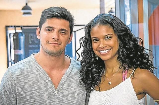 Bruno Gissoni e Aline Dias (Foto: Paulo Belote/ TV Globo)