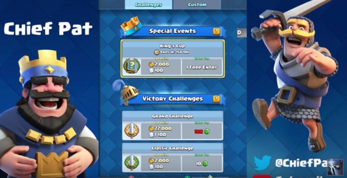 Clash Royale terá torneio surpresa e decks aleatórios em atualização (Foto: Reprodução/Chief Pat)
