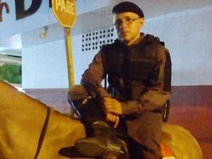 Soldado Wildiney Alves de Andrade trabalhava na Cavalaria (Foto: Arquivo Pessoal)