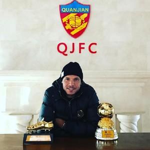 Luis Fabiano Tianjin Quanjian (Foto: Reprodução / Instagram)