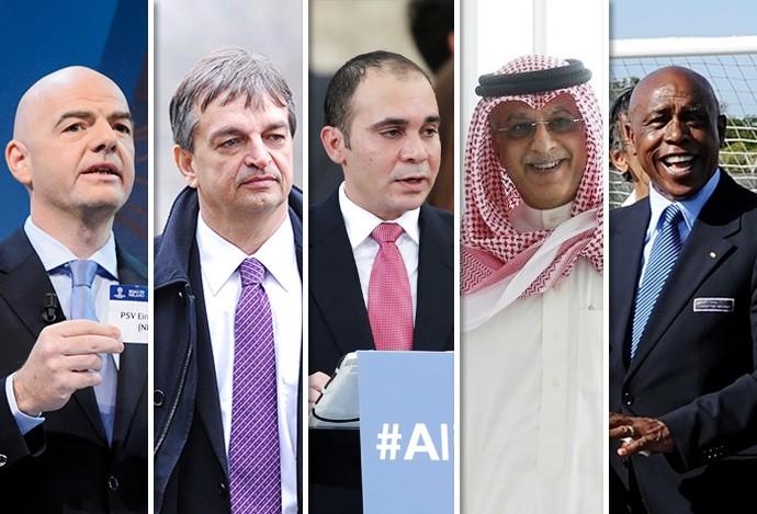 Montagem Candidatos FIFA (Foto: GloboEsporte.com)