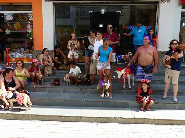 Foliões do bloco das 4 patinhas São João Nepomuceno carnaval 2015 (Foto: Márcio Sabones/Portal SJ Online)