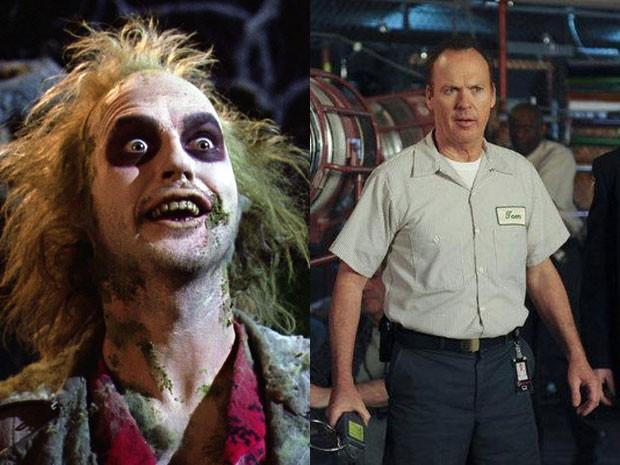 Michael Keaton em 'Os fantasmas se divertem' e '30 rock' (Foto: Divulgação)
