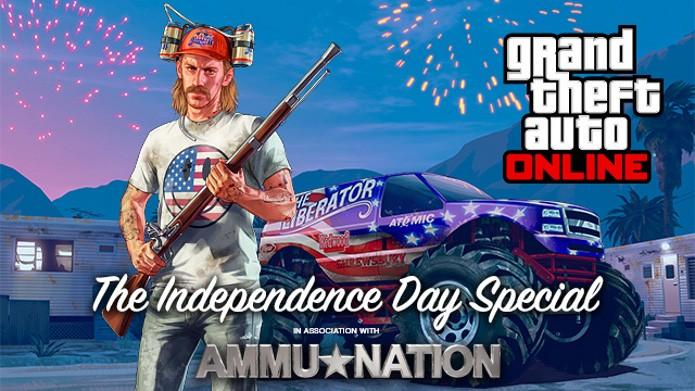 GTA 5 ganhou hoje uma atualização que celebra o Dia da Independência dos Estados Unidos. (Foto: Divulgação)