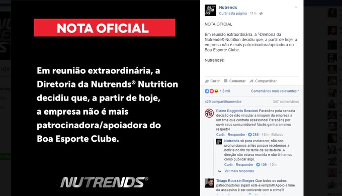 Após contratação do goleiro Bruno, empresa comunica fim de patrocínio ao Boa Esporte (Foto: Reprodução/Redes Sociais)