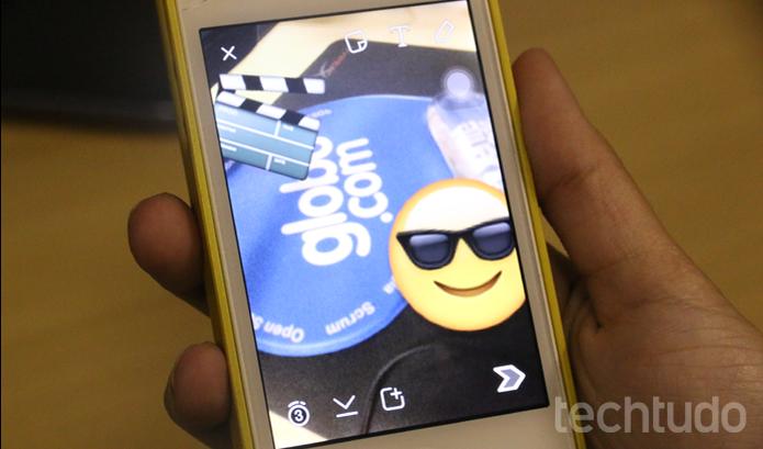 Snapchat atualiza e ganha emojis e menos consumo de dados  (Foto: Luciana Maline/TechTudo)