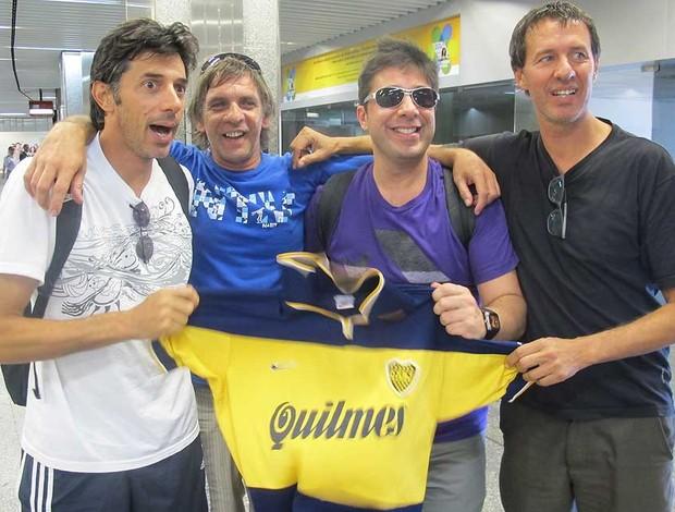 Torcedores do Boca Juniors (Foto: Rafael Cavalieri / Globoesporte.com)