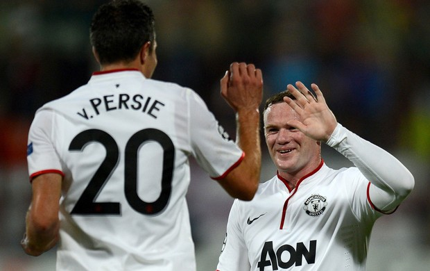 van Persie e Rooney gol Manchester United (Foto: AFP)