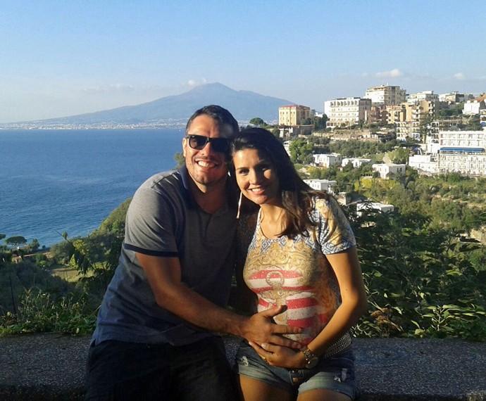 Os dois aproveitando a viagem na Costa Amalfitana (Foto: Arquivo Pessoal)