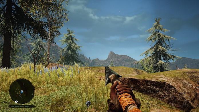 Far Cry Primal: símbolo dos assassinos é indicado no minimapa (Foto: Reprodução/Victor Teixeira)
