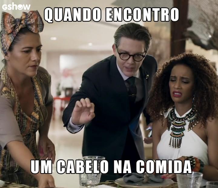 Gomes está sempre ao lado de Michele nos melhores momentos (Foto: TV Globo)