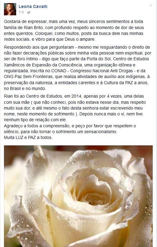 Leona Cavalli (Foto: Reprodução/Facebook)