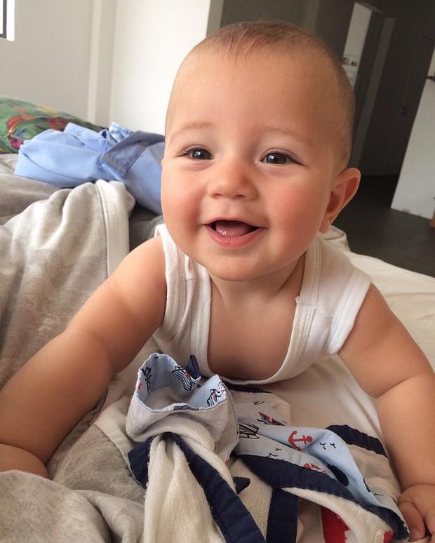 Antônio, filho de Paloma Duarte e Bruno Ferrari (Foto: Reprodução/Instagram)
