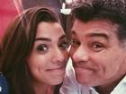 Maurício Mattar posta foto com a filha e fã comenta: 'Beleza vem do pai'